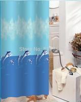 Bathroom products shower curtain Shark 180x200cm fabric curtain bath curtain shower sea world animal curtain