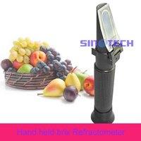 Free shipping Sinotech Hand held Cutting  liquid  brix 0-10%  Refractometer  P-RHB-10ATC plastic material