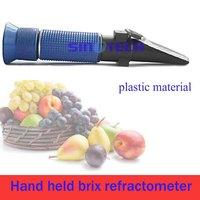 Free shipping Hand held cuttling liquid 0-5% Brix  refractometer P-RHB-5ATC Plastic material