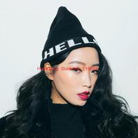 2014 Fashion New Beanie Hats For Women Hello!! Knitting Hats Lady Winter Warm Caps HTZZM-402