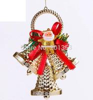 16cm Christmas Flower Christmas Bells Hanging Decorations 6pcs Gift