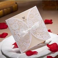 2015Teda Wishmade Best Sale Laser Cut Wedding Invitation Card  blank insert with Envelope BH2046