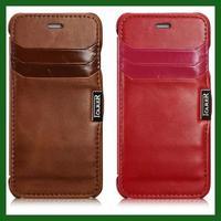 For iphone 6 Original icarer Brand Vintage real genuine Leather natural cow skin cover magnet wallet phone case card holder