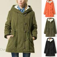 Plus Size European New 2014 Autumn Winter Women Fashion Jacket Slim Mid-long Coat Warm Cashmere Outerwear Free shipping