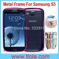 100pcs/Lot Free Shipping: Luxury Ultrathin Aluminum Bumper Frame Case for Samsung Galaxy S3 I9300