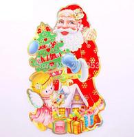 Santa sided three-dimensional collage tree decorations Christmas ornaments 2pcs