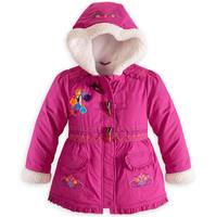 Retail 2014 new frozen jacket cotton-padded clothes children wear winter coats Girls jacket Children down jacket frozen coat