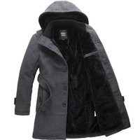 New 2014 Autumn Winter Men's Fashion Clothing coat Leisure silmming Thick trench comfortable warm men trench coat