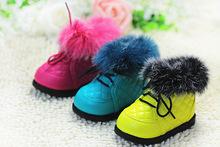 Hot new invierno de la marca bebé caliente botas de pelo de conejo zapatos del prewalker del bebé primeros caminante del bebé de algodón acolchado zapatos botas de nieve(China (Mainland))