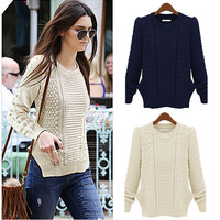 Women Sweater Cardigan2014 Autumn Pullover knitted Winter Sweater Fashion Long Sleeve Vintage Twist Sweaters Tricotado Plus Size