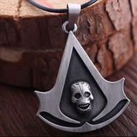 50pcs/lot Fashion Assassins Creed Deiss Mond Necklace Pendant the New Game Fashion Jewelry