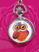free shipping 1pcs/lot Pretty cute owl watches Quartz Pocket watches necklace watches for Woman ladies girls children boy H83