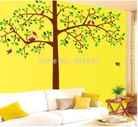 "Free Express 78""x76"" Tree Bird Sticker Home Decoration Living Room Sticker Wall Stickers Tree Decals For Walls 1set=2pcs"