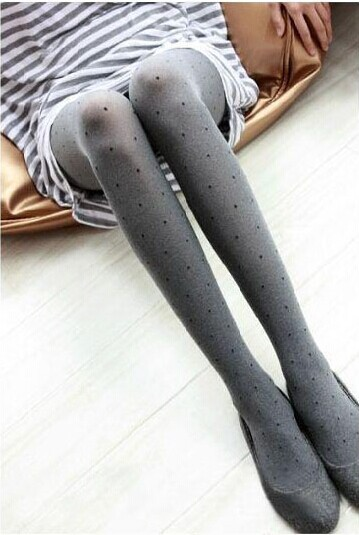 New bow/dots leggings thin type of cultivate one's morality show thin(China (Mainland))