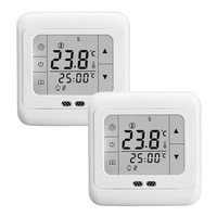 2pcs/lot 16A Weekly Programmable Touch Screen Warm Floor Heating Digital Thermostat Room Temperature Controller Free Shipping