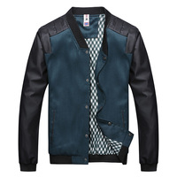 New 2014 Autumn Men's Fashion Clothing jacket slimming V-Neck Stitching man jacket Joker leisure casual jacket