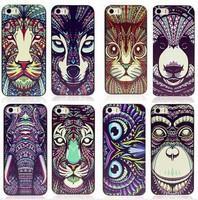 10pcs/lot Case for iphone 6 Plus Aztec Animals Print Tiger Orangutan Phone Case Cover for Apple iphone 6 Phone Bags Back Cover