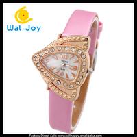 alibaba express hot sale charming fancy special Triangle women watch(WJ-2627)