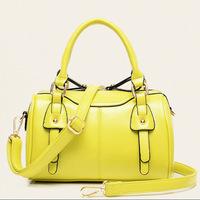 Hot Sale! 2014 Women PU Leather Handbags Fashion Joker Tote Vintage Female Messenger Bags Cylindric Bolsas Lady Crossbody Bags