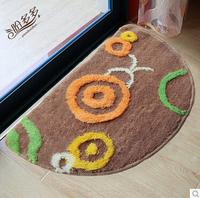 40*60cm density mat / semicircular door mat / bathroom lovely pad Anti-slip Doormat/ Floor Rug kitchen carpet
