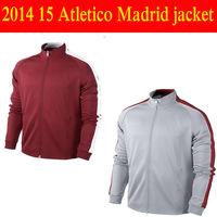 2015 SIMEONE Griezmann MANDZUKIC KOKE GABI football N98 jacket jersey 2014-15 A+++ Quality soccer uniform coat home away jacket