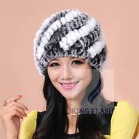 2014 New Hot Winter Genuine Rabbit Fur Hat Knitted Rabbit Fur Cap Real Rabbit Fur Headwear Winter Hats for Women SV008628