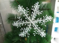 ch007 Free Shipping 20pcs/lot Christmas Snowflake Hanging Decorations For Windows Decor 27cm