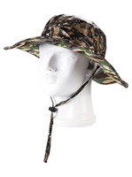 2014 New Men and Women Outback Big Brim Bucket Hat  Outdoor Fishing Hiking Boonie Snap Brim Military Sun Hat Cap Woodland Camo