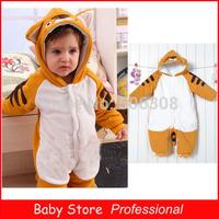 New Hot 2014 Kids Jumpsuits Child Cotton Infant Jackets Coat Newborn Baby Animal Romper Climbing Clothing Sets