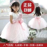 4 2014 pink white flower girl dresses for weddings girls pageant dresses princess prom dress children vestido de daminha 2015