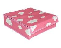 31*23*11cm charm cloud print color  Charcoal fibre Storage Box with case for socks underwear box Foldable storage box