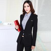 Autumn Ladies Black Blazer Feminino 2014 Blaser Women Blazers & Jackets Winter Office Uniform Styles Work Wear