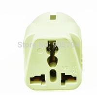 3pcs/lot Free shipping white Universal 2 Pin UK US AU To EU EURO France Germany Travel electrical plug adapter Adaptor sockets