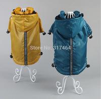 NEW Dog Pet Raincoat Royal Pouch Rainwear Dog Apparel Fleece Inside Hood R09008  Wholesale Retail