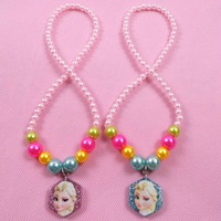 Christmas gift frozen anna&elsa necklaces pendants kids cheap wholesale lot 10pcs free shipping 140920