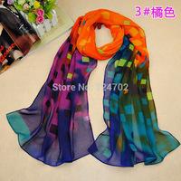Free shipping 200pcs/lot New arrival ladies fashion check print scarf plaid print scarf for women/ladies