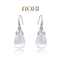Wholesale ROXI Fashion Jewelry Accessories Gold Plated CZ Diamond New Style Water Drop Opal Drop Earrings Love Gift for Women