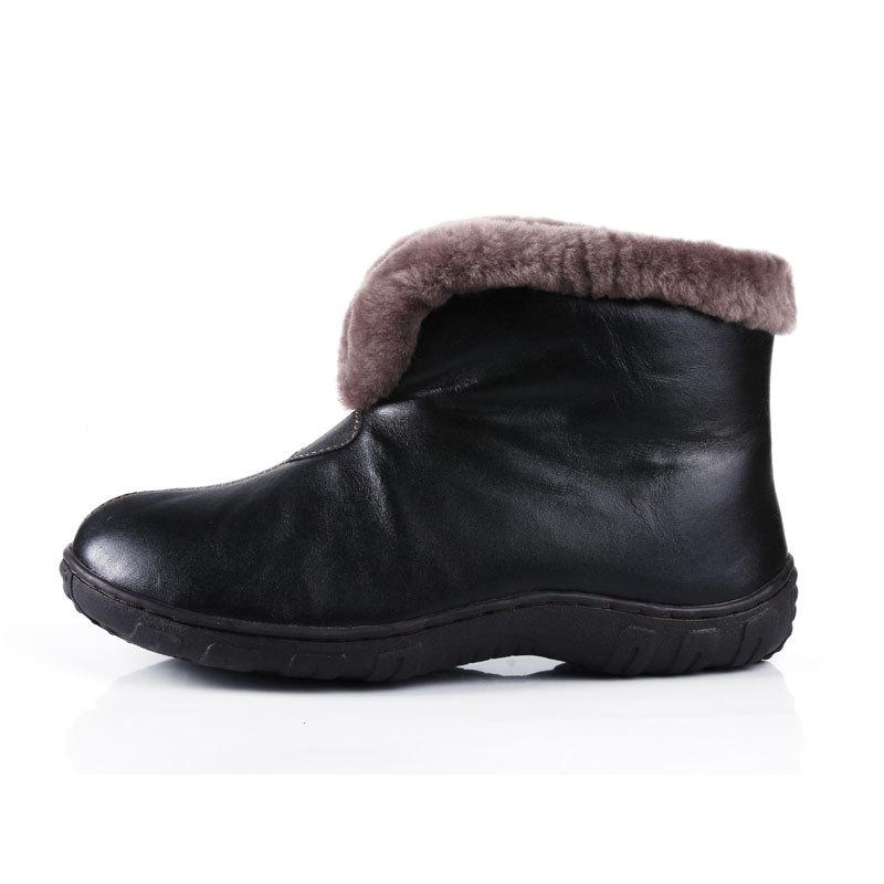 Modelos femininos inverno em mais velho lã de ovelha V-padded sapatos sapatos de neve skid mãe idosa botas quentes(China (Mainland))
