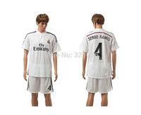 High  Quality  Real Madrid  Home  Ramos, Ronaldo  Bale, James  MODRIC  training suit    2015    Soccer Jerseys Free Shipping