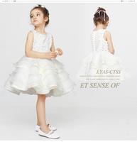 8 2014 white flower girl dresses for weddings girls pageant dresses ball gown prom dress children vestido de daminha 2015