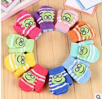 Warm cartoon sports knitted children's gloves South Korea's baby baby outdoor woolen gloves