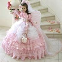 11 2014 fairy pink flower girl dresses for weddings girls pageant dresses ball gown prom dress children vestido de daminha 2015