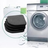 1set/lot Black Color Multifunctional Washing Machine Shock Pads Non-slip Mats Refrigerator Shock Mute Pad 4pcs AY870726