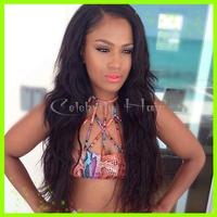 Free Shipping malaysian virgin lace front brazilian human hair wigs natural hairline for Black Women