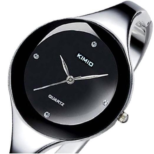Sell like hot cakes KIMIO Brand Stainless steel Jewelry Bangle Bracelet Women Ladies Diamond Hour marks