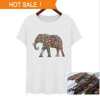2014 summer new women's short-sleeved cotton T-shirt female baby elephant T-shirt