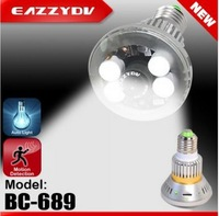 BC-689 Four real LED Lights Bulb DVR Camera Backup 1.5hr 5 pcs