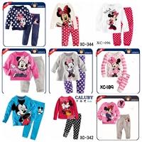 children's sets Girls Minnie Mouse Hello kitty Cotton Pyjamas Girls  Children's Clothes Baby Sets Underwear Kids Pajama Sets