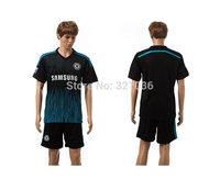 High  Quality   Chelsea   Away Black  2014-  2015    training     Soccer Jerseys      Football  Kit  Free Shipping