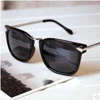 free shipping brand D sunglasses men 2014 steampunk Arrow square sun glasses metal oculos de sol feminino .A65